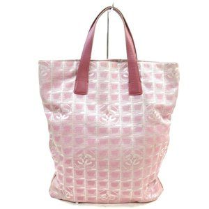 Auth Chanel New Travel Line Tote Bag #8206C11